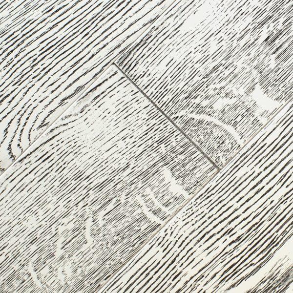 Дуб эмаль белая патина черная